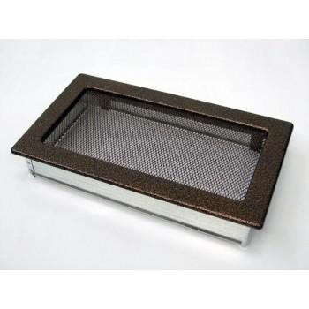 Каминная решетка Kratki 17х30 черная/медь пористая