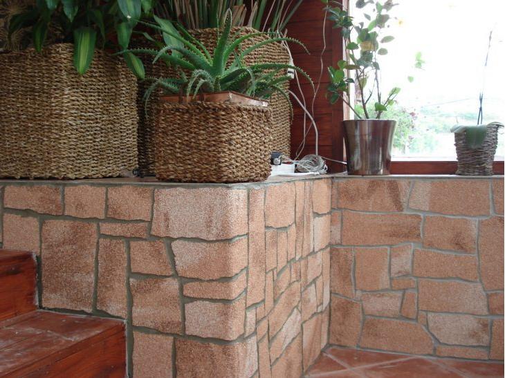 Облицовочный камень в интерьере